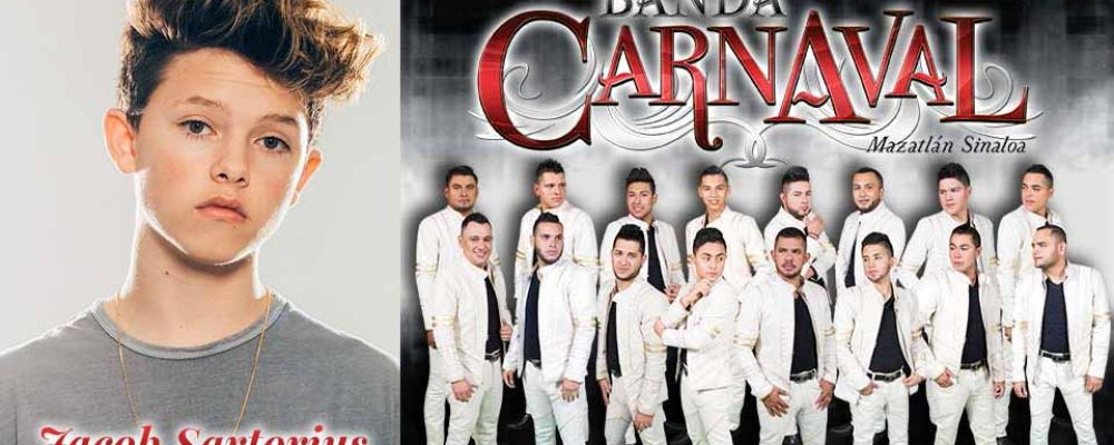 Jacob Sartorius and Banda Carnaval to Headline Concert Series Finale